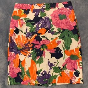 Colorful Floral J.Crew Skirt